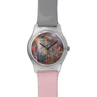 Hummingbird Flight Soft Pastels Art Watch