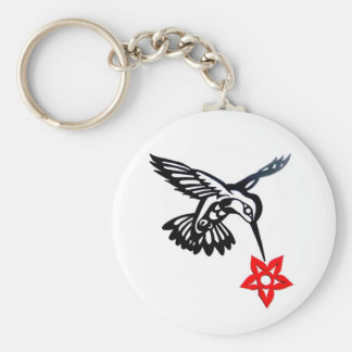 Hummingbird & Flower Edited.jpg Keychain