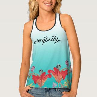 Hummingbird Flowers Everybody Needs Jesus Tank Top