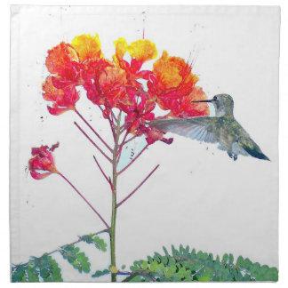 Hummingbird Flowers Napkin