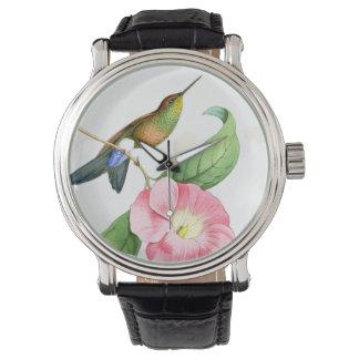 Hummingbird & Flowers Watch