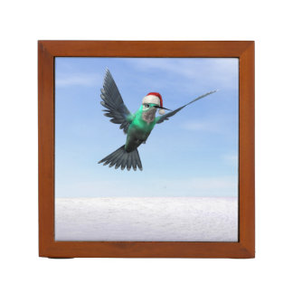 Hummingbird for christmas - 3D render Desk Organizer