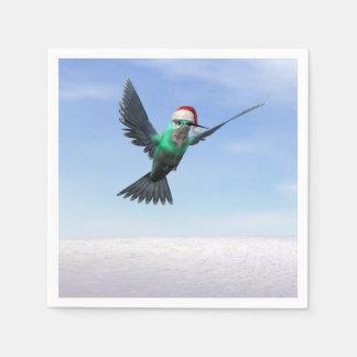 Hummingbird for christmas - 3D render Paper Napkin