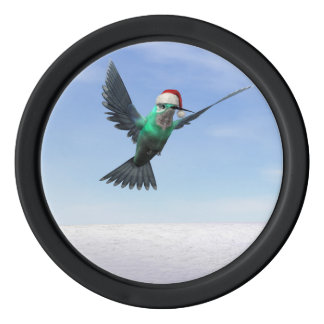 Hummingbird for christmas - 3D render Set Of Poker Chips