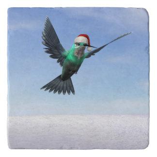 Hummingbird for christmas - 3D render Trivet