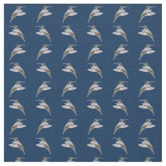 Hummingbird Frenzy Fabric (Navy)