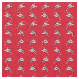 Hummingbird Frenzy Fabric (Red)