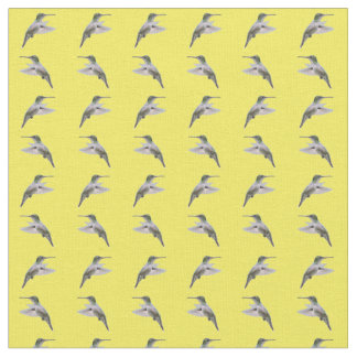 Hummingbird Frenzy Fabric (Yellow)