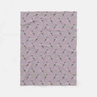 Hummingbird Frenzy Fleece Blanket (Pink)