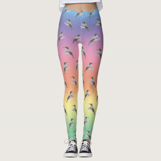 Hummingbird Frenzy Leggings (Rainbow)