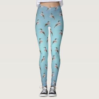 Hummingbird Frenzy Leggings (Sky Blue Mix)