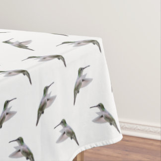 Hummingbird Frenzy Tablecloth (choose colour)
