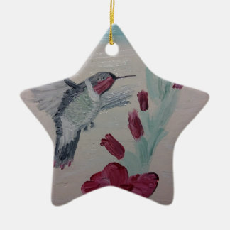Hummingbird from Oil Painting 'Sweetness' Ceramic Ornament