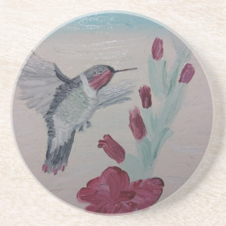 Hummingbird from Oil Painting 'Sweetness' Coaster