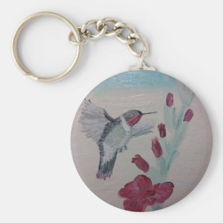 Hummingbird from Oil Painting 'Sweetness' Keychain