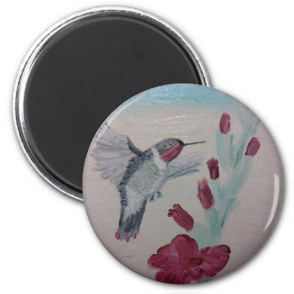 Hummingbird from Oil Painting 'Sweetness' Magnet