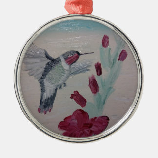 Hummingbird from Oil Painting 'Sweetness' Metal Ornament