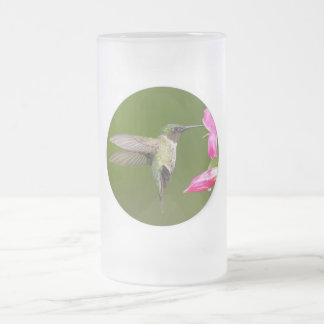Hummingbird, Frosted 16 oz Frosted Glass Mug