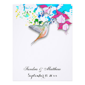 Hummingbird & Fuchsia Floral Wedding Stationery