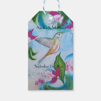 Hummingbird & Fuchsia Thank You Wedding Tags