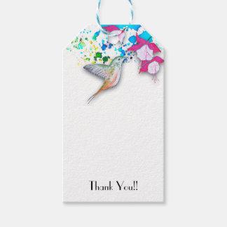 Hummingbird & Fuchsia Wedding Favor Gift Tags