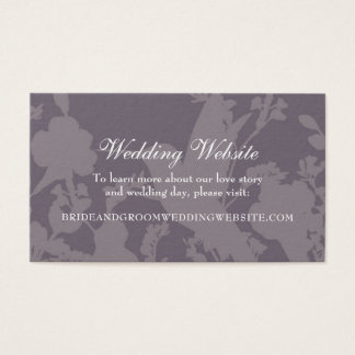 Hummingbird Garden Plum Elegant Wedding Website Business Card
