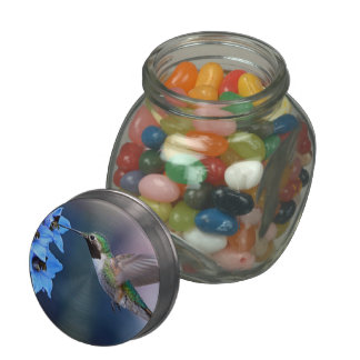 HUMMINGBIRD GLASS CANDY JAR