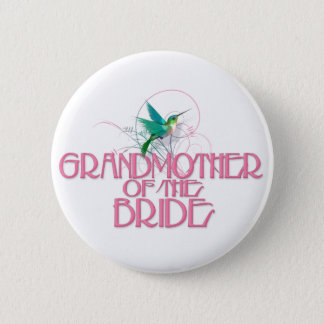 Hummingbird Grandmother of the Bride 2 Inch Round Button