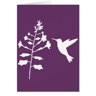 Hummingbird Greeting Card- Blank Card