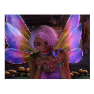 Hummingbird Guardian Fairy Fantasy Art Postcard