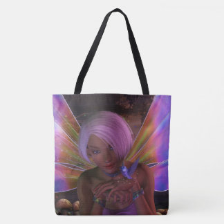 Hummingbird Guardian Fairy Fantasy Art Tote Bag