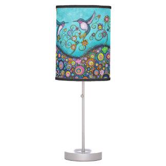 Hummingbird Haven Colorful Art Lamp