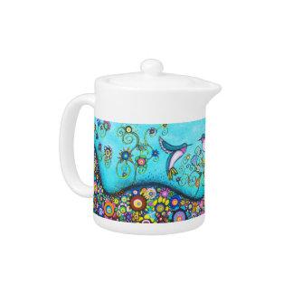 Hummingbird Haven Tea Pot