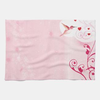 Hummingbird Hearts Kitchen Towel