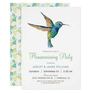 Hummingbird Housewarming Party Invitation