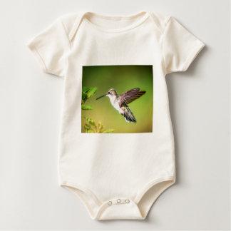 Hummingbird in flight baby bodysuit