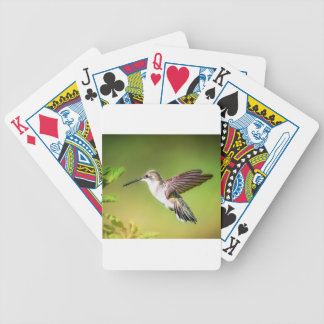 Hummingbird in flight bicycle playing cards