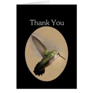 Hummingbird in Flight Blank Thank You Card