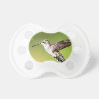 Hummingbird in flight pacifier