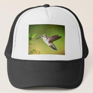 Hummingbird in flight trucker hat