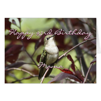 Hummingbird in Plum Tree- customize Card