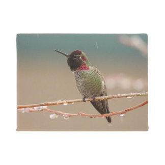 HUMMINGBIRD IN THE RAIN DOORMAT