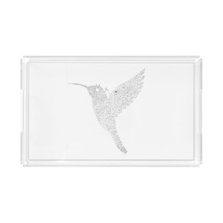 Hummingbird Jamming Out Acrylic Tray