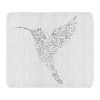 Hummingbird Jamming Out Cutting Board