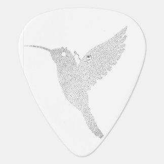 Hummingbird Jamming Out Guitar Pick