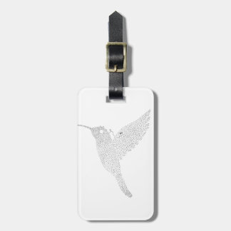 Hummingbird Jamming Out Luggage Tag