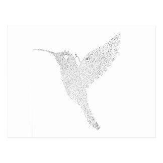 Hummingbird Jamming Out Postcard