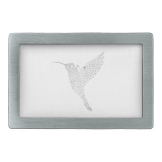 Hummingbird Jamming Out Rectangular Belt Buckle