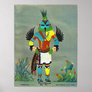 """""""Hummingbird"""" kachina Poster"""