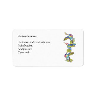 Hummingbird labels (a272)